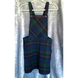 ✨NWT✨ Forever 21 Plaid Mini Dress Overall 90s